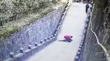 Phone-obsessed tourist falls to his death playing mobile games at sacred Buddhist mountain