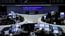 European shares fall as trade worries and German politics bite