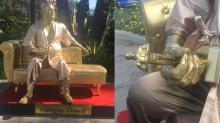 Erigen polémica estatua de Harvey Weinstein a metros de donde se entregarán los Oscar