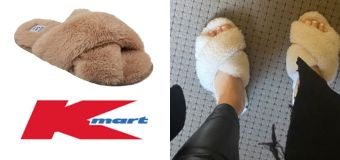 $6 Kmart dupe of $59.95 slippers Bachie star loves