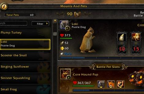 Mists of Pandaria: Wild pets will not be tradable