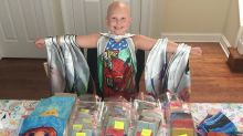 Girl with alopecia creates confidence for other children with head scarves