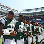 President Trump responds to anthem protests: Locked arms is good, kneeling is not acceptable