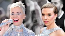 Katy Perry and Scarlett Johansson in a Silver Sequin Showdown