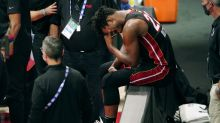 Adebayo, Dragic leave with injuries as Heat routed in Game 1