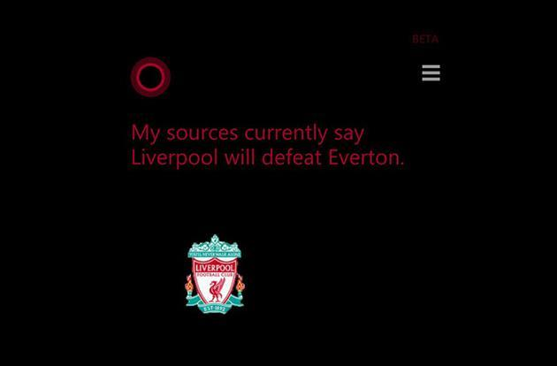 Cortana's now predicting the outcome of Premier League matches
