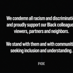 Fox Airs On-Air Message In Support Of Black Lives Matter