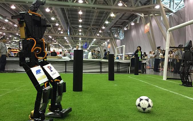 THORwin humanoid machine wins robotic soccer championship