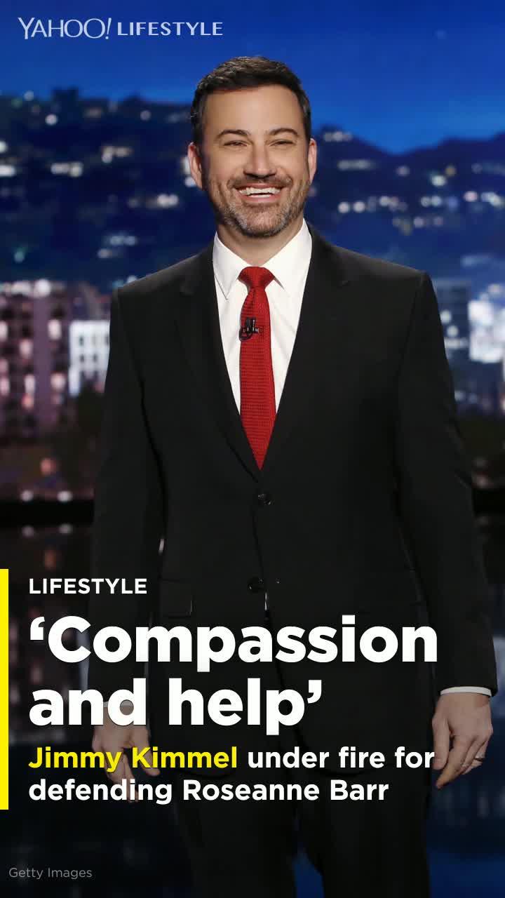 Znalezione obrazy dla zapytania Jimmy kimmel defense Roseanne