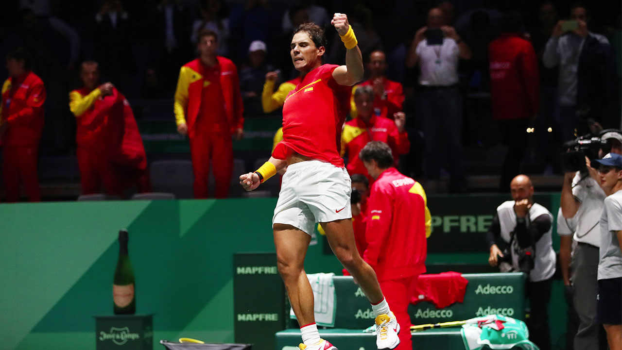 Vintage Rafael Nadal wins thriller in front of raucous home crowd