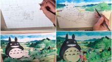 【新片速報】藝術家手繪超靚《龍貓》插畫 紀念初生嬰兒