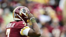 Redskins' Dwayne Haskins missed first victory kneeldown while taking selfies