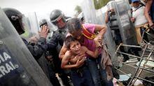 En fotos, el drama humano en el éxodo de los hondureños