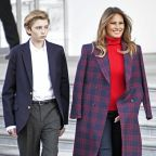Melania and Barron Trump Accept This Year's White House Christmas Tree