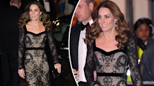 Kate Middleton steps out in slinky see-through dress