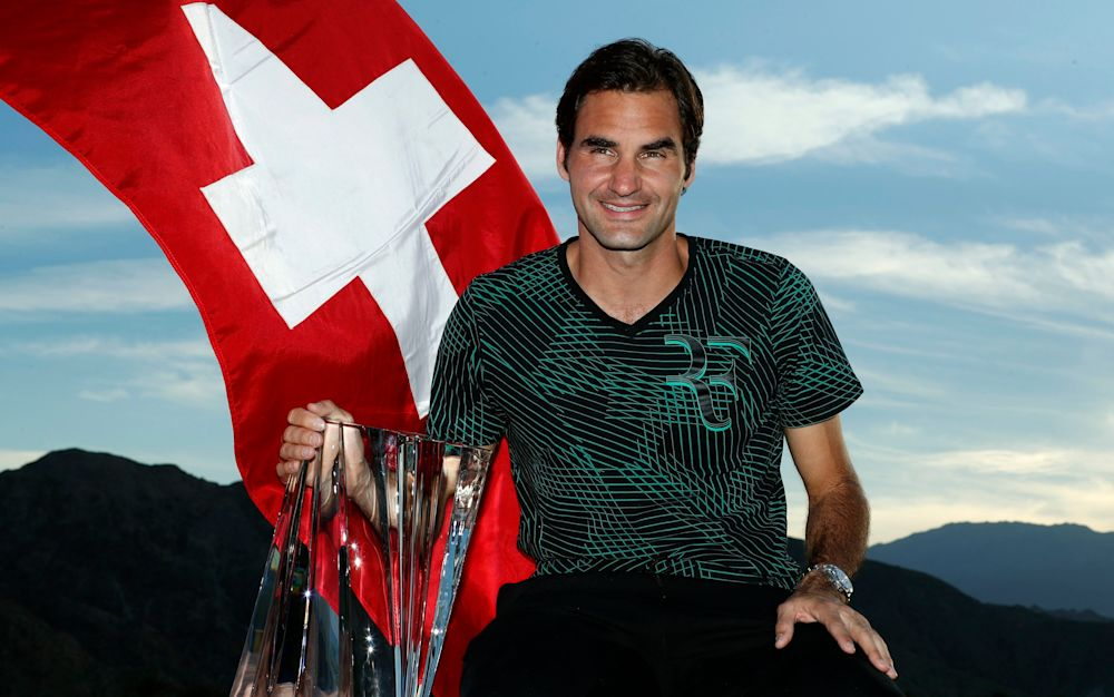 Roger Federer beat Stan Wawrinka in the final of Indian Wlls - EPA