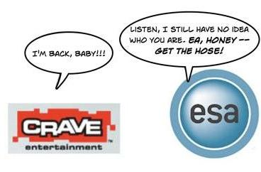 Crave crawls back to ESA; PlayLogic, Koei join organization