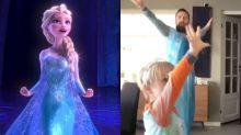 El padre viral que se disfrazó de Frozen para bailar con su hijo