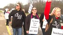 District 300 teachers strike as talks continue