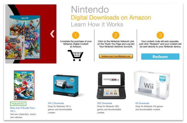 Nintendo opens digital download store on Amazon