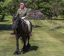 Queen relaxes with a special horse ride in first public appearance since lockdown