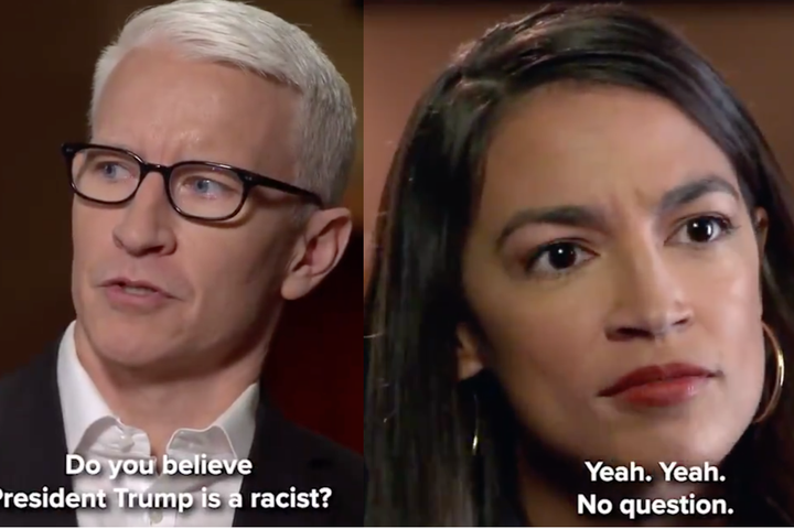 QnA VBage Alexandria Ocasio-Cortez was asked if Trump is a racist. Her answer: 'Yeah, no question.'