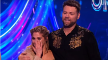 'Dancing on Ice': See Brian McFadden and Alex Murphy's dramatic live skate-off fall