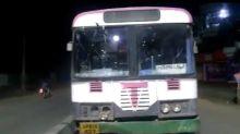 Telangana: 'Drunk' man drives away with TSRTC bus parked at depot