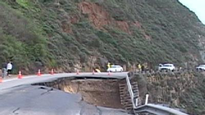 A Section Of Hwy 1 Collapses