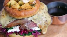 A whole roast dinner in a burger has been invented