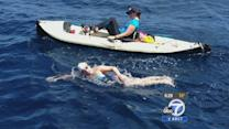 Swimmer, 16, attempting to break world record