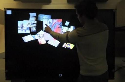 DIY multitouch 67-inch rear-projection TV