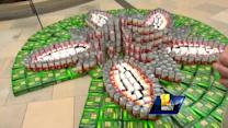 Canstruction on display at White Marsh Mall