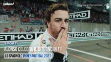 Alonso celebra il ritorno in F1