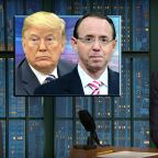 Seth Meyers On Rod Rosenstein: 'Don't Make Jokes! Jokes Are Broken Now!'