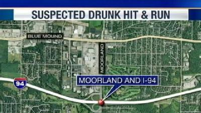 Accused Drunken Driver Strikes DOT Painting Truck