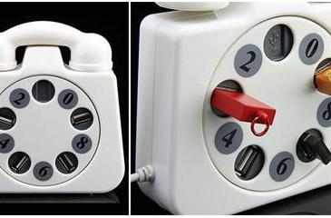 Rotary phone 4-port USB hub is impossible to hate