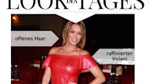 Look des Tages: Sabia Boulahrouz in Rot