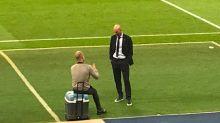 """Guardiola-Zidane, lo spagnolo rivela: """"Gli ho fatto i complimenti per la Liga"""""""