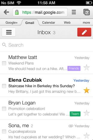 Updated Gmail for iOS links directly to Chrome, Google Maps and YouTube apps