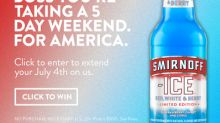Dear America, Tell Your Boss You're Taking A 4th Of July 5 Day Weekend. For America. Sincerely, Smirnoff Ice™ Red, White & Berry