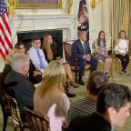 Trump tweets support for arming teachers after denying he...