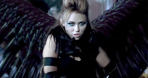 Miley Cyrus can't be tamed in the video for her song. (Photo: Vevo via YouTube)