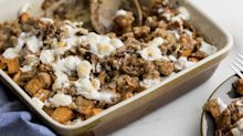 This sweet potato casserole is perfect for Thanksgiving