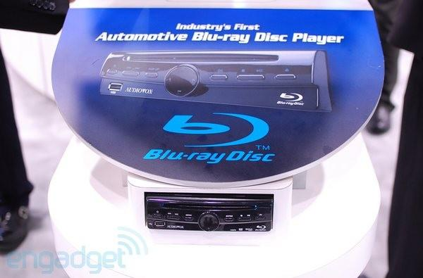 Audiovox shows off the industry's first in-car Blu-ray player, the AVDBR1