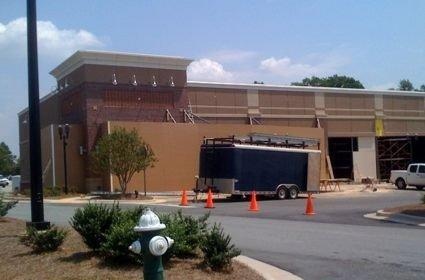 First picture of the Greensboro, NC Apple Store under construction