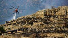 Fire rages near Greek archaeological site of Mycenae
