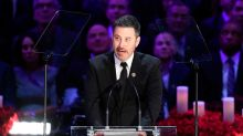 Jimmy Kimmel breaks down in tears during Kobe and Gianna Bryant memorial