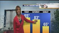 Friday's Forecast: Above-average temps with pop-up showers