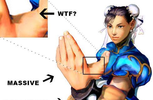 Chun-Li's massive hands cause for concern in Street Fighter IV
